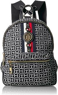 Men's Women's Backpack Jaden, Black/White, One Size
