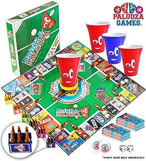 DRINK-A-PALOOZA Board Game: سرگرمی نوشیدن بازی برای بزرگسالان و بازی Night Party Games | بازی بزرگسالان دسته کوچک موسیقی جاز از آبجو پنگ + فلیپ جام + پادشاهان کارت بازی کارت + بیشتر!