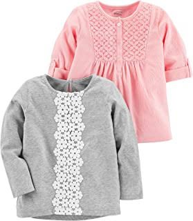 Simple Joys by Carter's Toddler Girls' 2-Pack Long Sleeve Tops