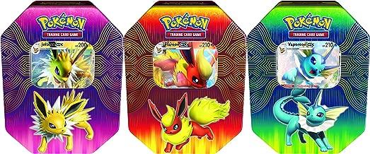 Pokémon POK82527-6 TCG: Elemental Power Tin (Vaporeon/Jolteon/Flareon-GX, one at Random), Mixed Colours