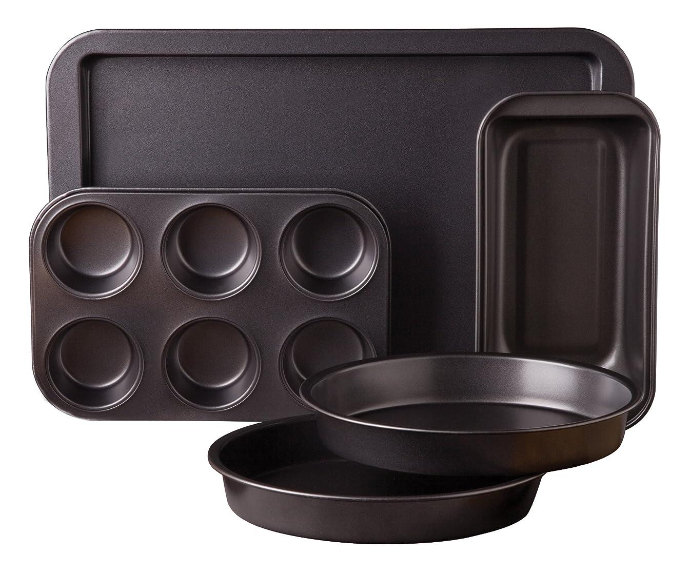 Sunbeam 76893.05 Kitchen Bake 5-Piece Bakeware Set, Carbon Steel