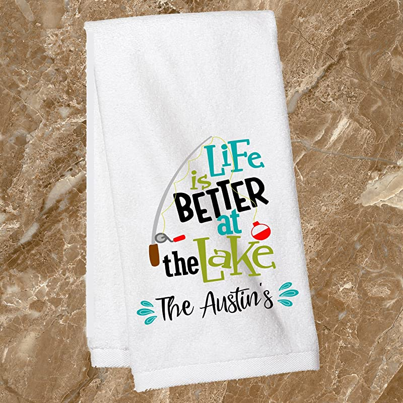 Lake House Personalized Towel Personalized