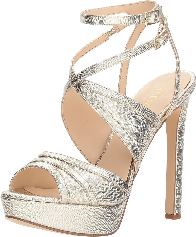 Nine West Women's Valeska Synthetic Heeled Sandal