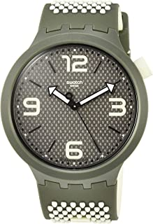 Swatch Mens Analogue Quartz Watch with Silicone Strap SO27M102