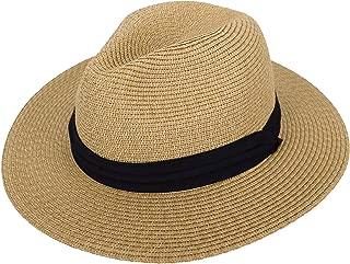 Women's Wide Brim Straw Panama Sun Hat