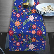 RADANYA Floral Print Table Runners for Home Decorative Coffee Table Decoration & Events 14x72 Inches