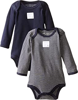 Unisex Baby Bodysuits, 2-Pack Organic Cotton Short & Long...