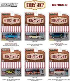 New 1:64 Greenlight Hobby Shop Series Collection - THE HOBBY SHOP - SERIES 3 ASSORTMENT Diecast Model Car By Greenlight Set of 6 Cars