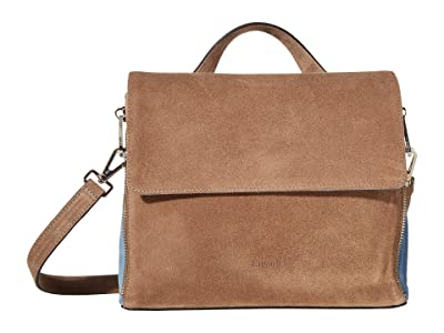 Lipault Paris Rendez-Vous Crossbody Bag (Dark Taupe/Icy Blue) Bags