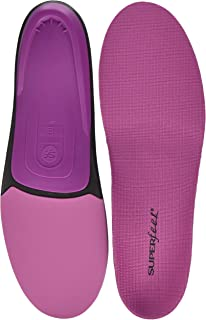 Superfeet BERRY Women`s Comfort High Arch Support and Forefoot Cushion, Orthotic Shoe Inserts for Anti-fatigue, Womens, Berry