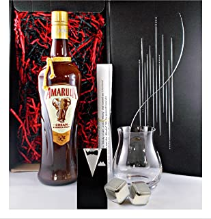 Geschenk Amarula Fruit Cream Likör  1 Glencairn Canadian Glas  2 Edelstahl Kühlsteine