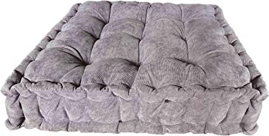 Verpert Floor Pillow, Square Meditation Cushion Floor Seating for Adults, Oversized Tufted seat Cushion Reading Nook for Kids