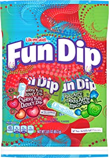 LIK-M-AID Fun Dip Cherry Yum Diddly and Razz Apple Magic Pouch, 3.01 Ounce