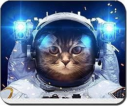"""وسادات ماوس ألعاب مستطيلة مخصصة للقطط في الفضاء المقاس: 9. 4"""" x7. 9"""" (RB278-6)"""