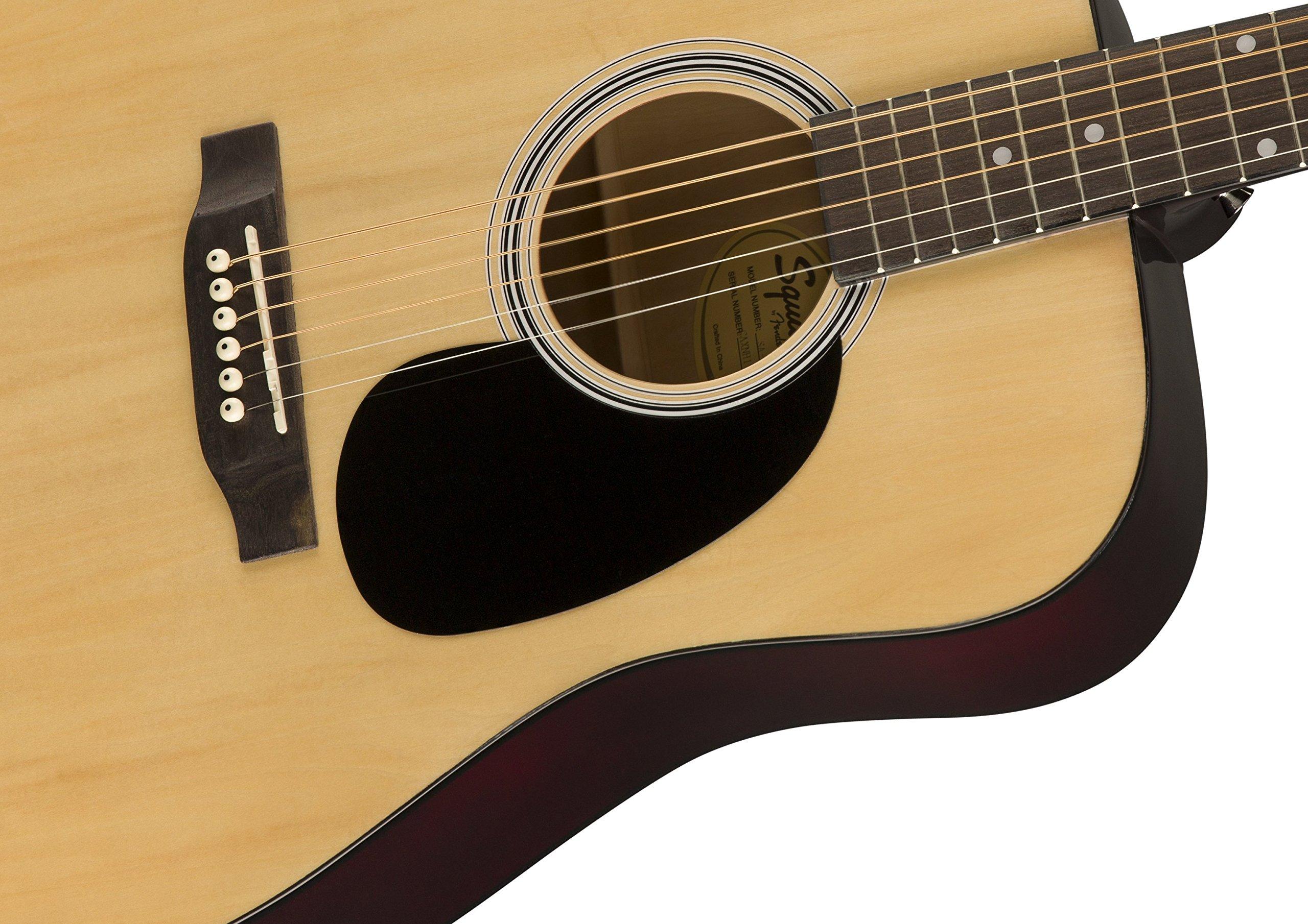 Squier de Fender SA-150 principiante Dreadnought Guitarra Acústica ...