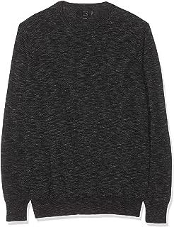 Amazon Brand - Meraki Men's Slim-Fit Lightweight Cotton Crew-Neck Contrast Sweater