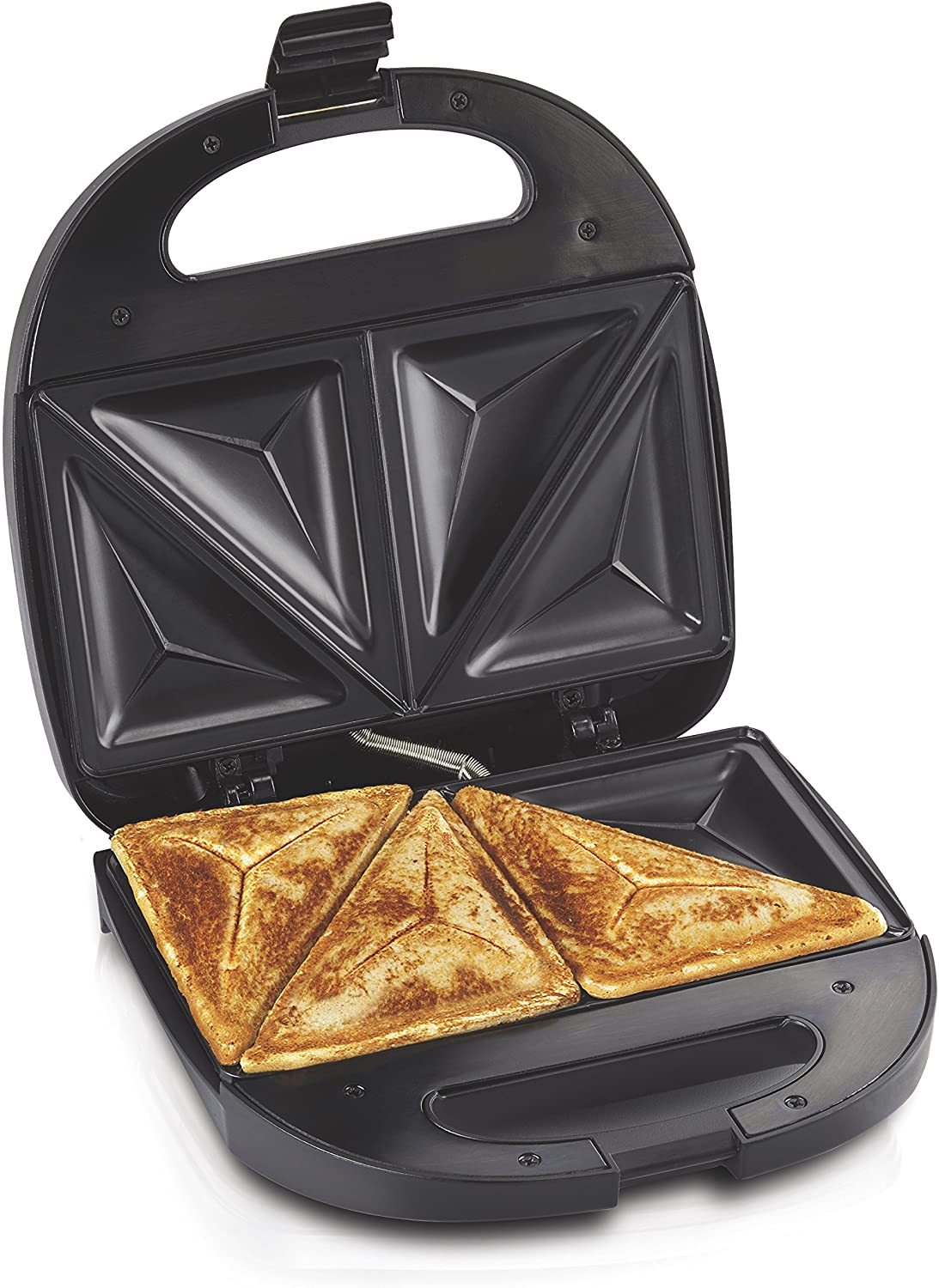 Hamilton Beach 4-Slice Non-Stick Belgian Waffle Maker with Indicator Lights, Compact Design, Black (26020): Electric Waffle Irons: Home & Kitchen