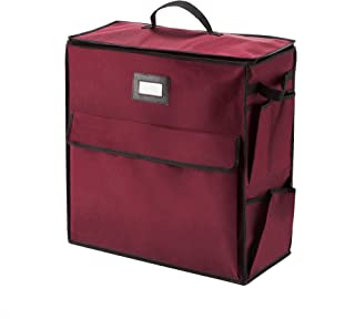Elf Stor 83-DT5052 1074 Ultimate Organizer Holiday Storage for Gift Wrap and Bags, Red