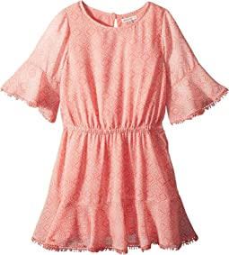 Flounce Chiffon Dress (Big Kids)