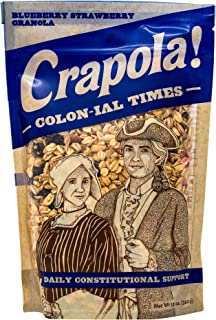 Colonial Times Blueberry Granola Cereal - All Natural, Healthy Breakfast or Snack - 12 oz Bag