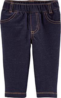Carter's French Terry Knit Denim Pants,Blue,12 Months