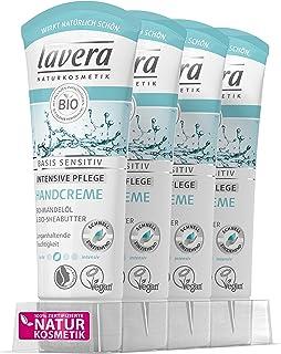 lavera Handcreme basis sensitiv  Bio Mandelöl & Bio Sheabutter  Intensive Handpflege  vegan  Bio  Natural & innovative Hand Care  Naturkosmetik 4er Pack 4x 75ml
