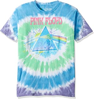 Liquid Blue Men's Pink Floyd Dark Side Oil Paint Tie Dye Short Sleeve T-Shirt