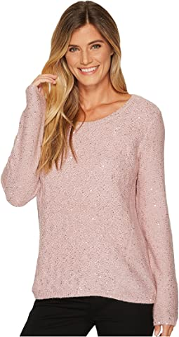 NYDJ - Sequin Long Sleeve Scoop Sweater