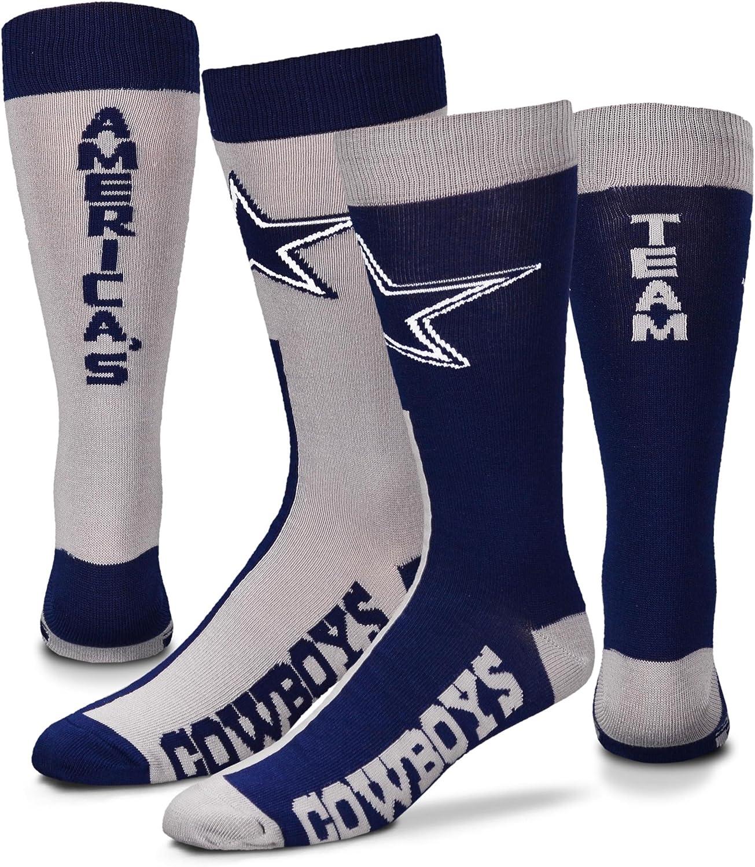 supreme For Bare Feet Dallas Cowboys Big Crew La Top Max 47% OFF Size Socks MisMatch