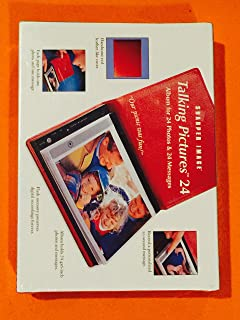Sharper Image Talking Pictures Album 24 Photos and Messages Red Cover