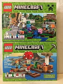 LEGO Minecraft The Mushroom Island & LEGO Minecraft The Iron Golem