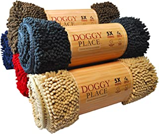 My Doggy Place - Ultra Absorbent Microfiber Dog Door Mat, Durable, Quick Drying, Washable, Prevent Mud Dirt, Keep Your House Clean (Charcoal, Medium) - 31 x 20 inch