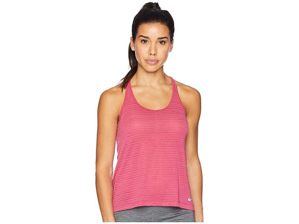 Nike Miler Breathe Tank Top (Wild Cherry/Heather) Women