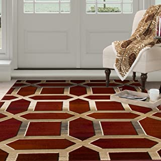 Best burgundy and gold area rugs Reviews