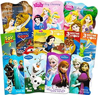 Disney Frozen Pixar Princess Board Book Ultimate Set ~ Bundle Includes 12 Books for Toddlers Featuring Elsa, Ariel, Cinderella, Belle, and Other Disney Favorites