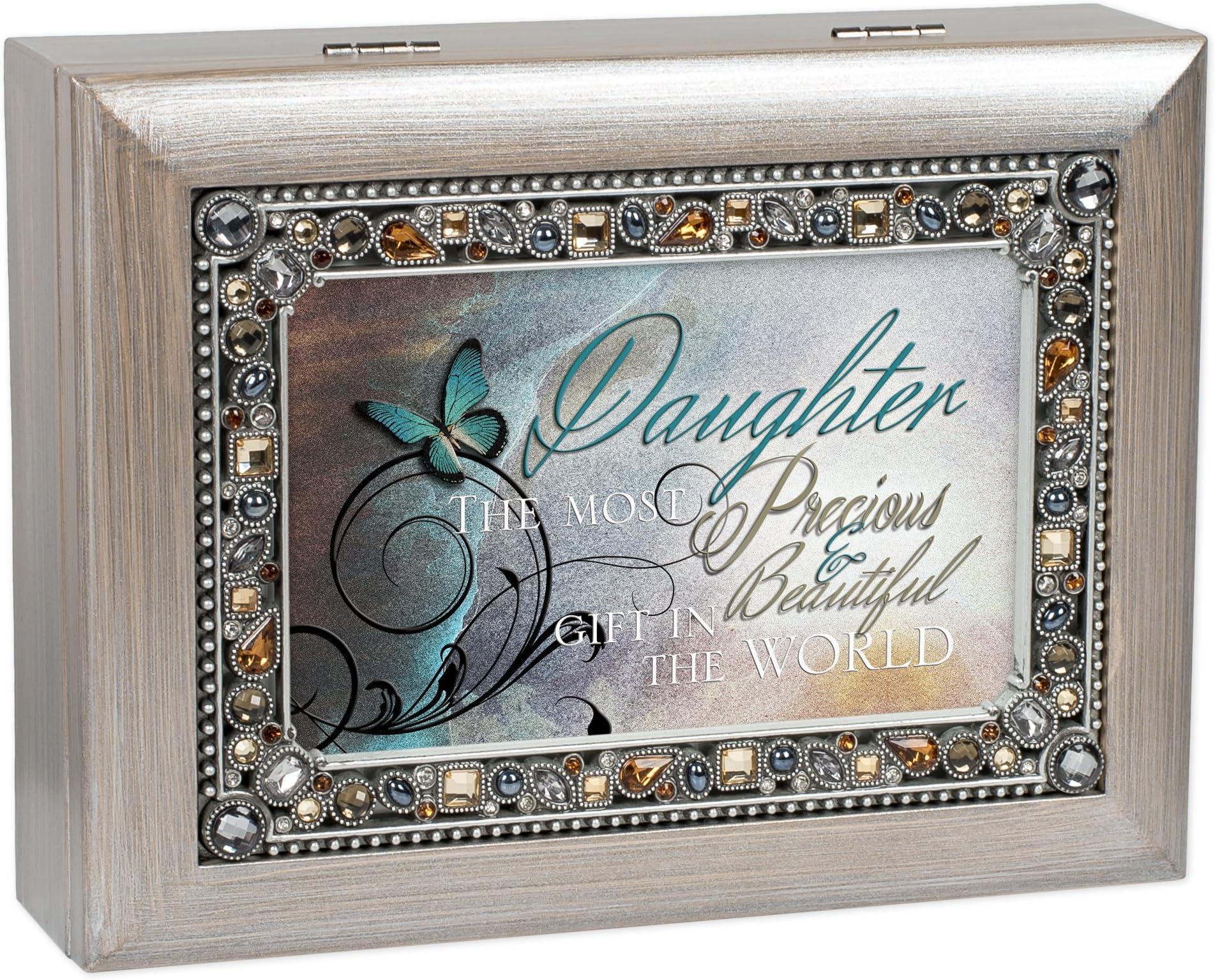 "Daughter Precious /& Beautiful Woodgrain Digital Music Box /""I Can Only Imagine/"""