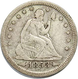 1853 Seated Liberty Quarter w/Arrows & Rays 25¢ High Grade