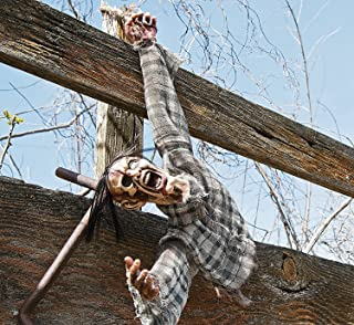 Severed Hanging Torso. Halloween Haunted House Decor. 3 Ft. Plastic.