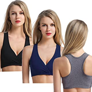 3 Pack Maternity Nursing Sleep Bra Wireless Breastfeeding Bras Tanks