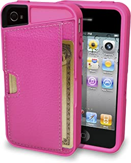 Smartish iPhone 4/4S Wallet Case - Q Card CASE [Slim Protective Cover] (CM4) - Pink Sapphire
