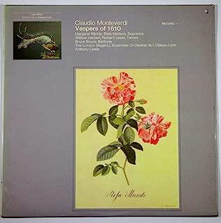 Claudio Monteverdi: Vespers of 1610 / The London Singers, L'Ensemble Orchestral de L'Oiseau-Lyre, Anthony Lewis (Record 1)