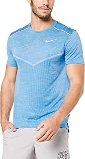 Nike Australia Men's TechKnit Ultra Top, Light Photo Blue/Reflective Silver
