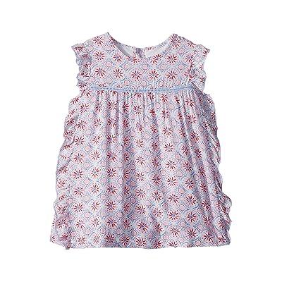 Joules Kids Woven Frill Dress (Infant) (Cream Summer Mosaic) Girl
