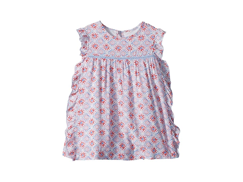 Joules Kids Woven Frill Dress (Infant) (Cream Summer Mosaic) Girl