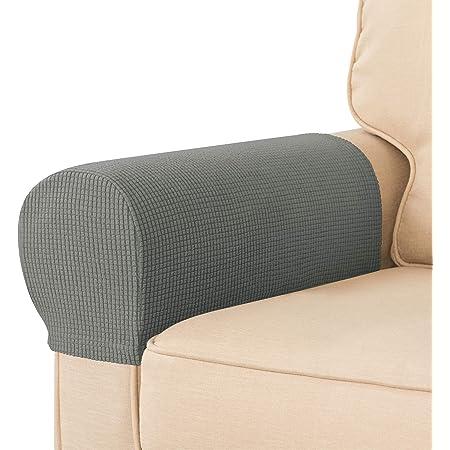 Oraunent Set di 2 copri-braccioli antiscivolo per divano rimovibili colore: grigio braccioli e braccioli