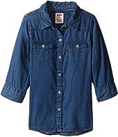 Levi's® Kids 3/4 Sleeve Denim Top (Little Kids)