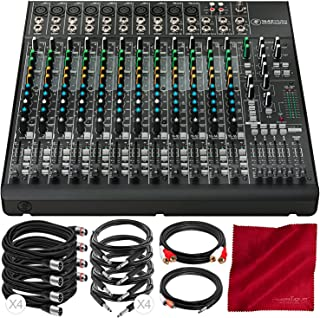 Mackie 1642VLZ4 16-Channel 4-Bus Compact Mixer Bundled with MONO1/4