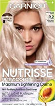 Garnier Hair Color Nutrisse Ultra Color Nourishing Hair Color Creme, Mascarpone Creme Pl2, 1 Count