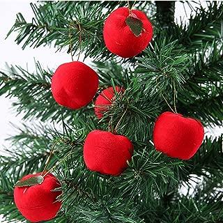 AVOLUTION Red Apples Christmas Tree Hanging Ornament Xmas Party Decor 6Pcs 5cm