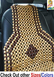 Q1 Beads XLBG Wood car bead seat cover cushion for swift,baleno,Tiago,Polo,Dzire,Etios,chair,truck,sofa,SUVs, i10,i20,Ignis,alto,kwid,celerio,WagonR,innova,duster,figo,santro,city,Ertiga,Seltos,ciaz